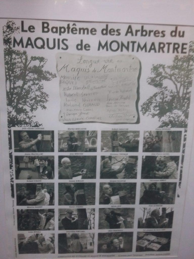 Le Baptême des Arbres du Maquis de Montmartre